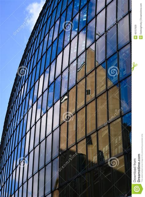 contemporary curtain wall architecture convex mirror stock image image of international high