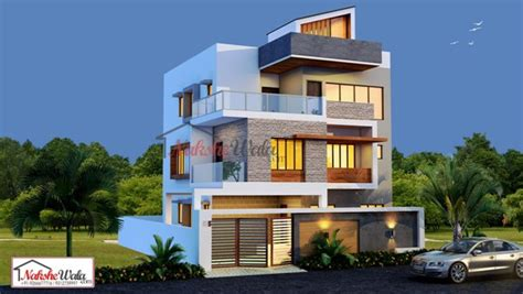 2 5 Bhk Floor Plan by Triple And Multi Storey Elevation 3d Triplex House