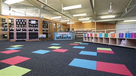 rug student support desk bonnyrigg school library intercraft flooring