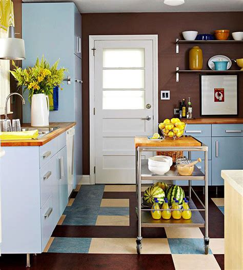 small kitchen spaces ideas colorful kitchen in small space ideas