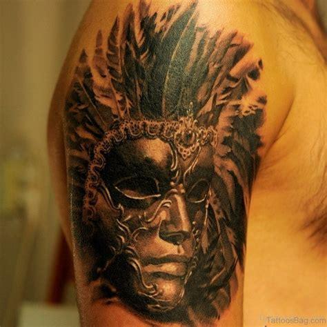 45 great venetian mask tattoos for shoulder