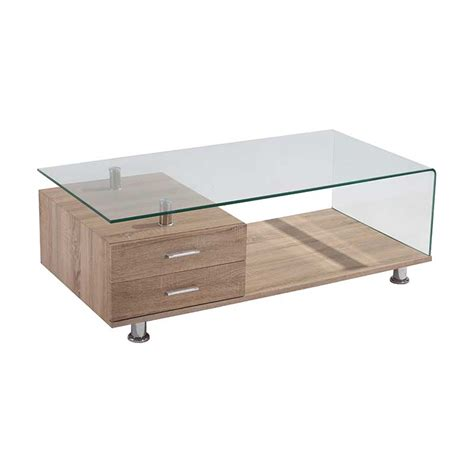 vine 120x60cm 12mm tempered glass coffee table decofurn