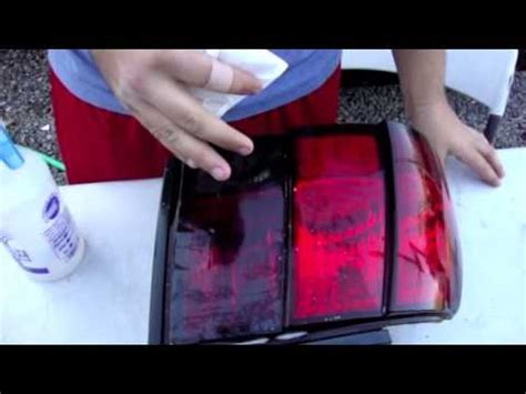 how to tint your tail lights or headlights with tint film