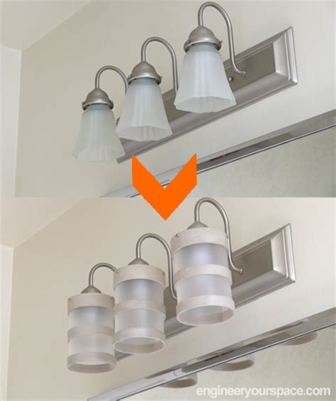 diy light fixture ideas bathroom design ideas diy lighting fixture makeover