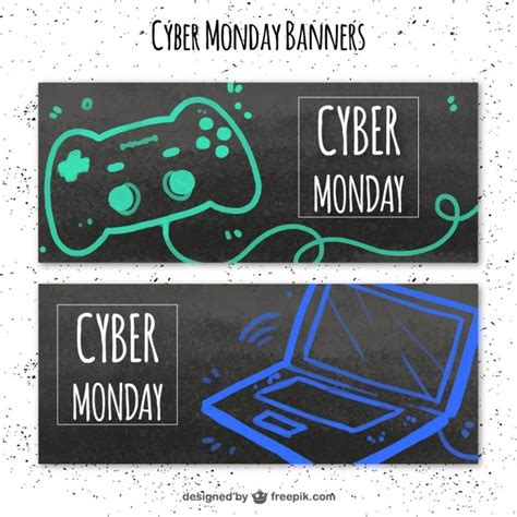 design by humans cyber monday cyber monday banners with a laptop and a video game
