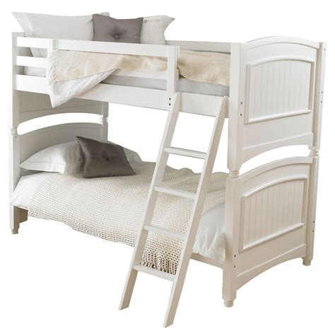 white wooden bunk beds colonial bunk bed frame bun feet decorative headboards