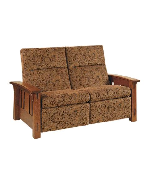 mission style loveseat recliner mccoy loveseat recliner amish direct furniture