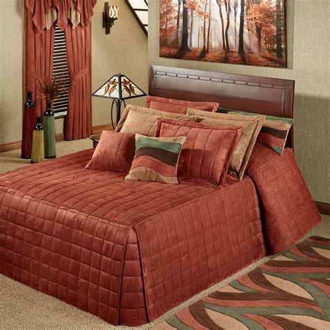 fitted comforter camden russet grande oversized fitted bedspread bedding