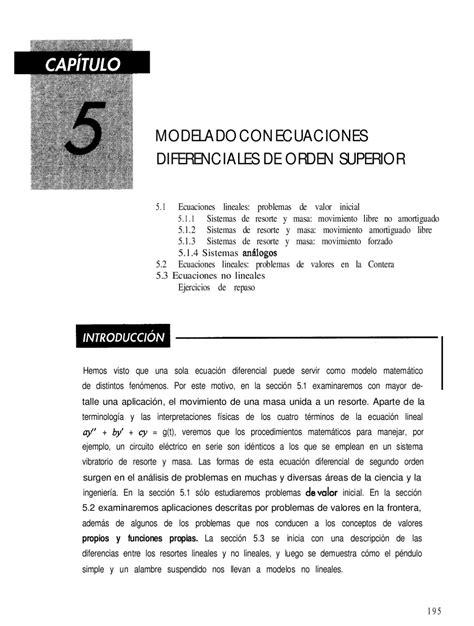 oscilacion autosostenida ecuaciones diferemciales capitulo 5 by omar torres issuu