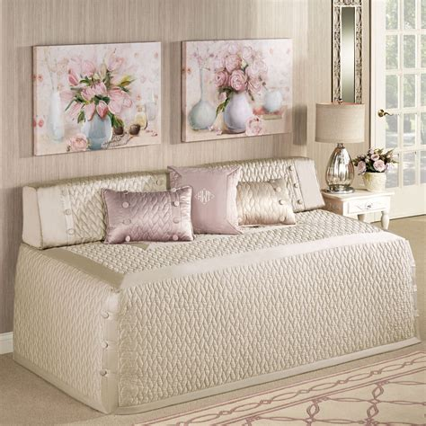 daybed coverlet silk allure quilted hollywood daybed cover bedding