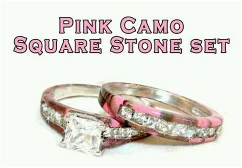 pink camo wedding ring set s wedding yes