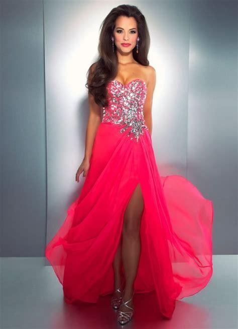 Beautiful Pink Dress neon pink beautiful prom dress dresses