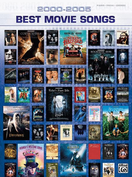 recommended film music 2000 2005 best movie songs sheet music sheet music plus