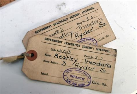 evacuee tag template world war ii tags found in caernarfon shop spark search