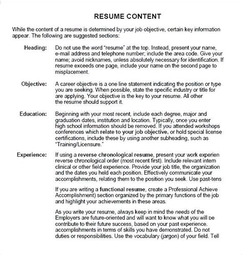 Resume Guide by Resume Guide Pdf Free Sles Exles Format