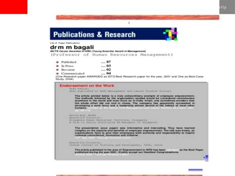 Mba Research by Paper Publication Research Mm Bagali Hrm Hrd Hr