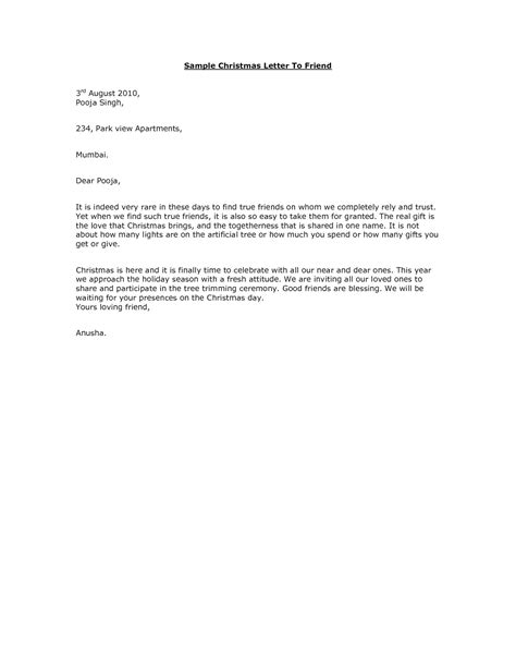 Letter To A Friend Format Best Template Collection Merry Business Letter Template