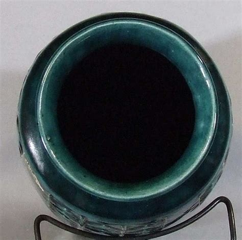 Aqua Floor Vase West German Pottery Aqua Floor Vase By Bay For Sale