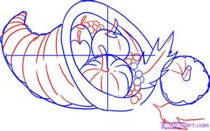 how to draw a cornucopia free coloring pages on art