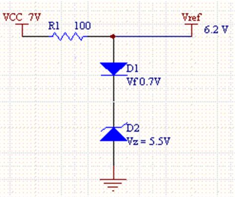 2 zener diodes in series electronic device and electronic circuit thermally compensated zener circuit