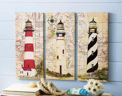 lighthouse no 3 lighthouse nautical home decor single 3 pc nautical lighthouse canvas wall art set of 3