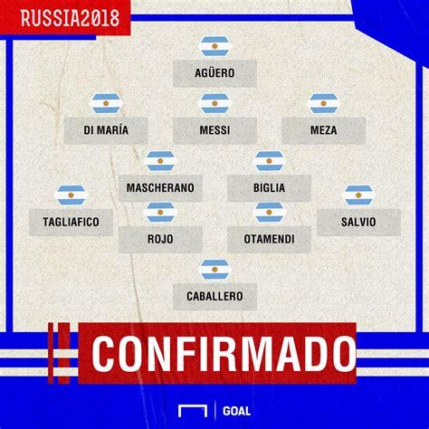 argentina vs islandia en el mundial rusia 2018 formaci 243 n