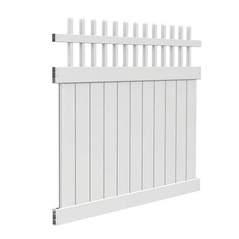 veranda logo veranda tennessee 6 ft h x 6 ft w white vinyl fence kit