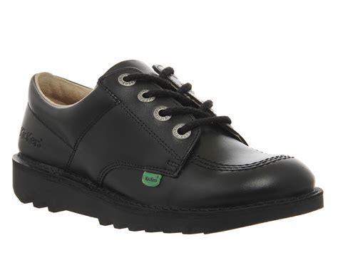 Kickers Boot Slop Sleting kickers kick low lace jr 3 6 black ebay