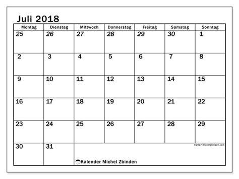 Kalender 2018 Juli August Kalender Juli 2018 66ms