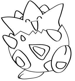 pokemon coloring pages togepi pokemon togepi colouring pages picture to pin on pinterest