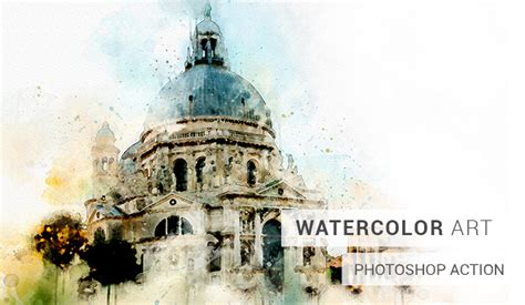 watercolor tutorial photoshop cs4 watercolor photoshop action slidesalad