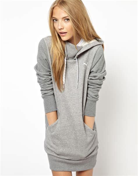 Dress Hoddy hoodie dress in gray lyst