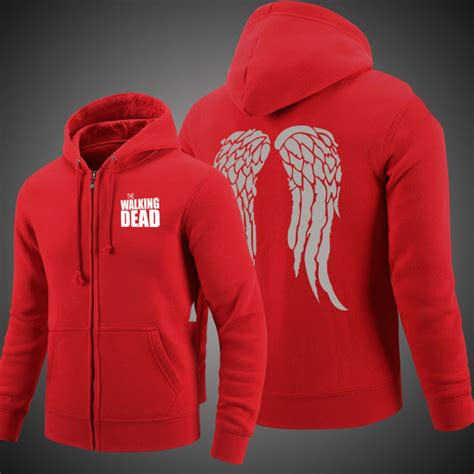 Hoodie The Walking Dead 4 the walking dead daryl wings hoodie