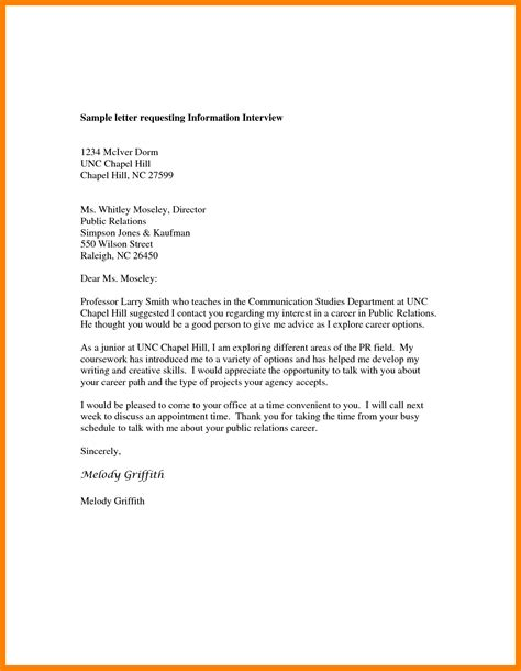 8 information letter format intern resume