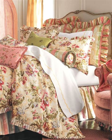 rose tree floral design oversize overstuffed bedding set