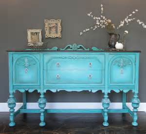 Turquoise Buffet Table Sold Antique Buffet Sideboard Entry Table Aqua Teal By