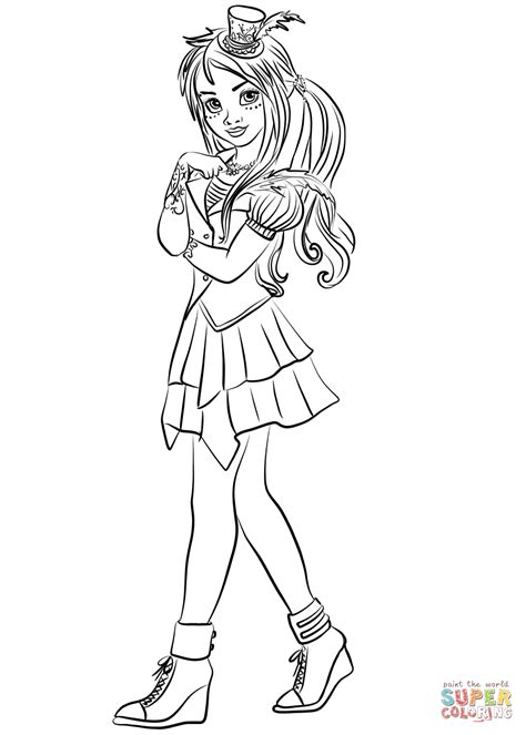 coloring pages of disney descendants descendants wicked world freddie coloring page free