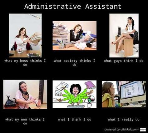 administrative assistant in what i really do scoop it