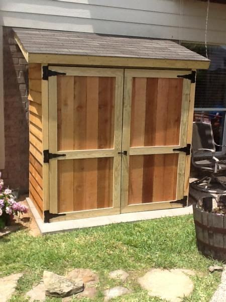 small lean  style cedar shed perfect