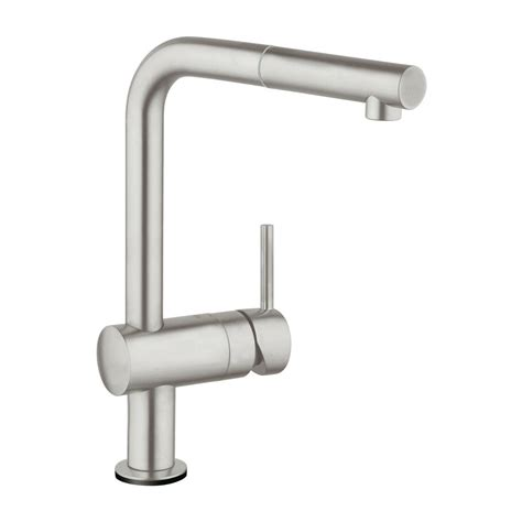 grohe minta kitchen faucet grohe minta touch single handle pull sprayer kitchen faucet in supersteel infinityfinish