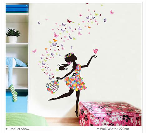 butterfly wall stickers for rooms care room decoration diy wall stickers butterfly flowers decal