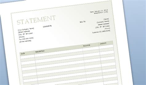 billing statement template free billing sheet template for word
