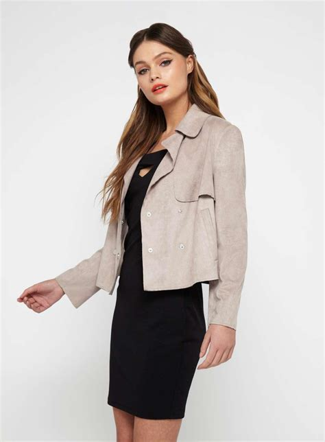 Miss Selfridge Cropped Parka by Miss Selfridge Mink Cropped Trench Jacket Lyst