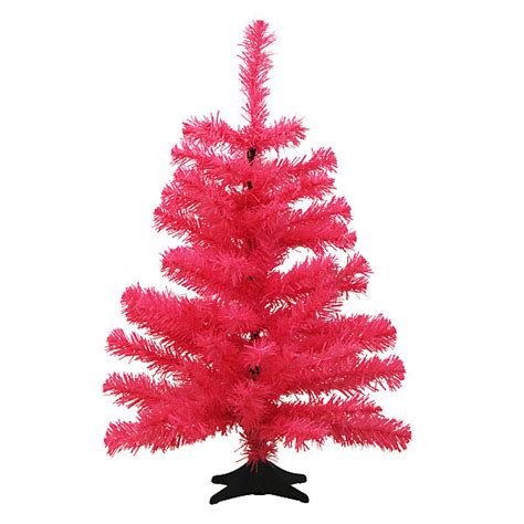 neon pink christmas tree decoist