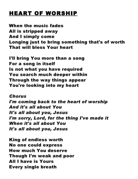 printable worship lyrics praise and worship hymns