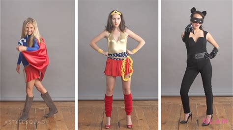 diy superhero halloween costumes style squad glam