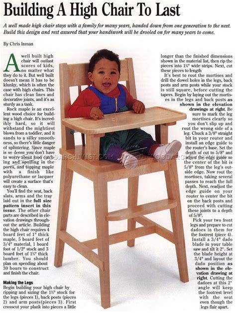 chair high chair high chair plans woodarchivist