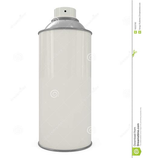 Sprei White Spray Can Isolated On White Stock Illustration