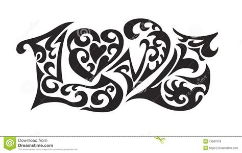 tribal x tattoo worb word logo love tatoo stock vector image of beauty