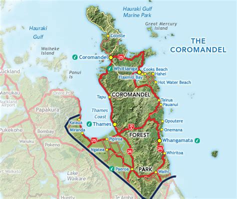 Nz Search Coromandel Map Search New Zealand Accommodation What To See Do Transport